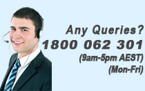 ANY QUESTIONS? Call us 9am-5pm (AEST), Mon-Fri. 1800 062 301